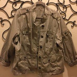 2x Sonoma Khaki Utility Military Jacket